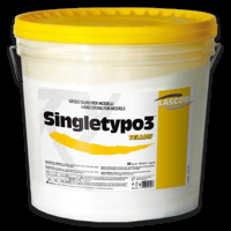 Супергипс зуботехнический 3 класса (желтый, Singletypo 3, 6 кг)