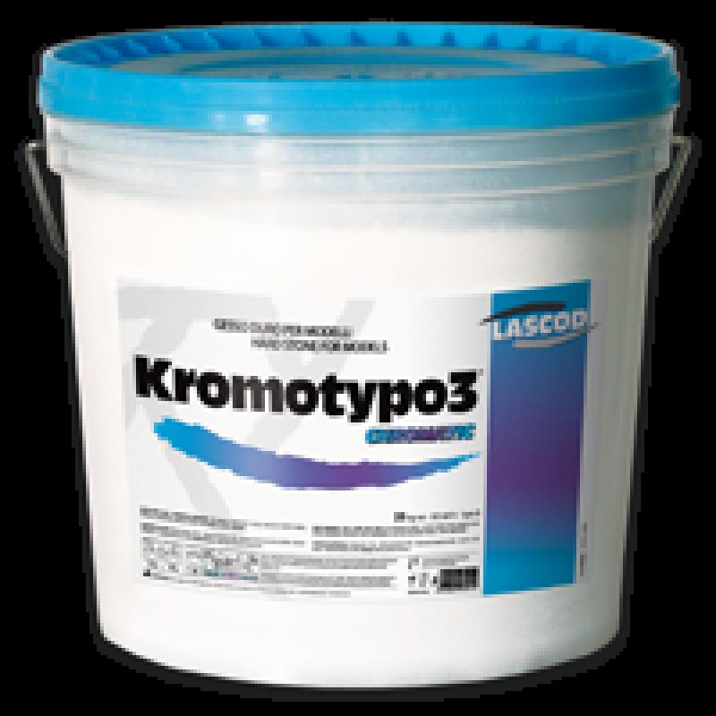 Супергипс зуботехнический 3 класса с цветовой индикацией фаз (голубой-фиолетовый-голубой, Kromotypo 3, 6 кг)