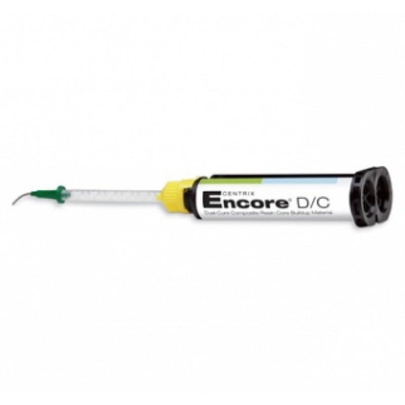 Культевой материал двойного отверждения ENCORE D/C AutoMIX (1x25 мл, 10 насадок, 10 канюль, фторсодержащий, натуральный)