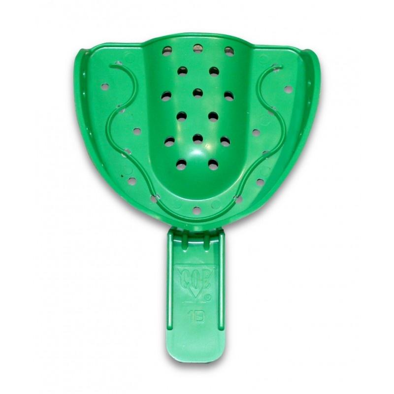 Ложка слепочная Detulous plastic trays (пластмассовая перфорированная, большая, для верхней челюсти)