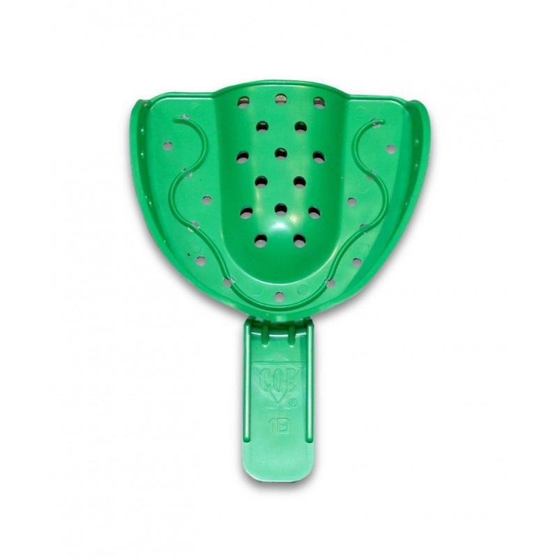 Ложка слепочная Detulous plastic trays (пластмассовая перфорированная, средняя, для верхней челюсти)