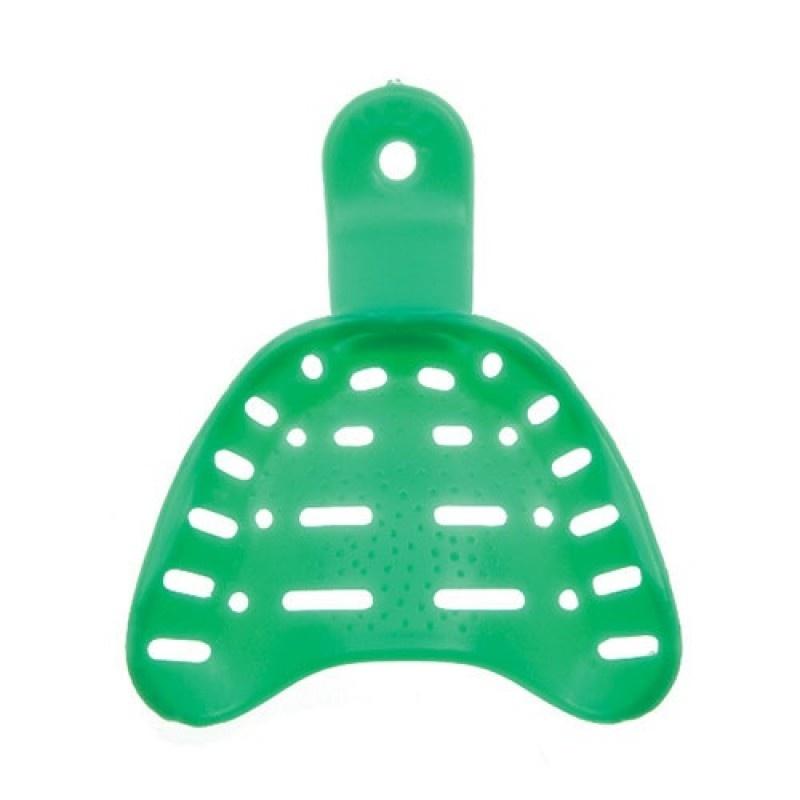Ложка слепочная для беззубых Detulous plastic trays (пластмассовая, средняя, для нижней челюсти)