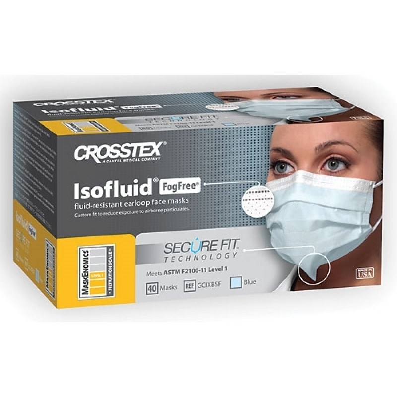 Маски незапотевающие с экраном бумажные Isofluid Fog Free (25 шт.)