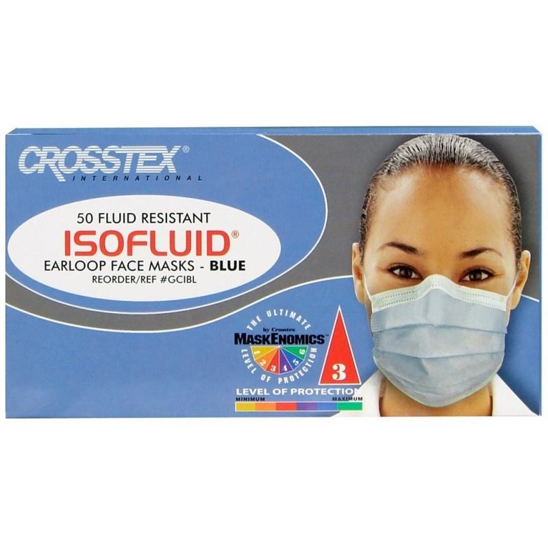 Маски одноразовые бумажные Isofluid blue (50 шт.)