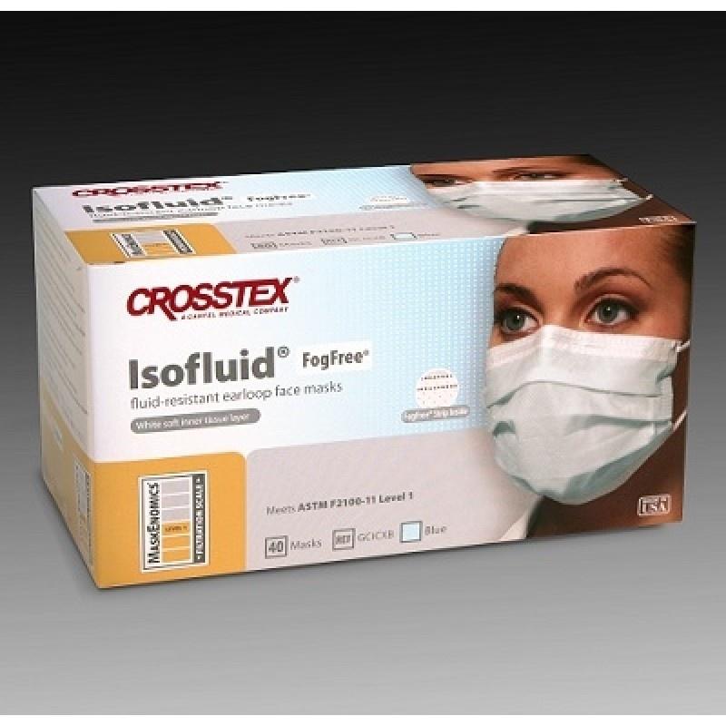 Маски трехслойные незапотевающие бумажные Isofluid Fog Free (40 шт.)