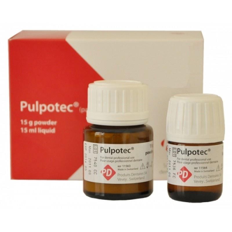 Материал для лечения витальных моляров методом пульпотомии Pulpotec (15 г + 15 мл)