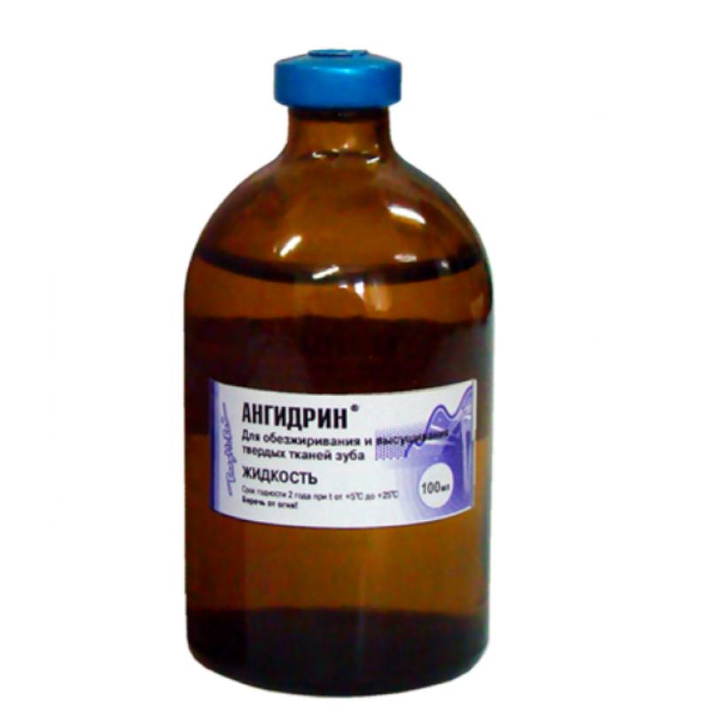 Материал для сушки и обезжиривания твердых тканей Ангидрин (100 мл)