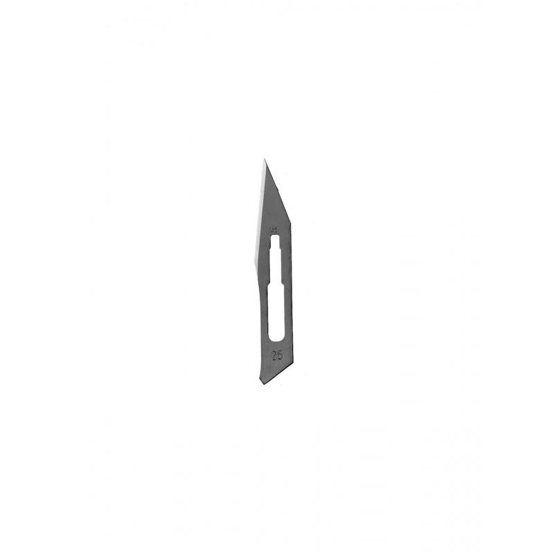 Лезвия лабораторные для скальпеля №25 10-255-25 (100 шт.)
