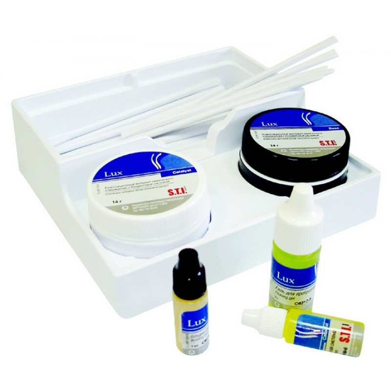 Материал композитный гибридный химического отверждения с бондинговой системой Lux (набор)