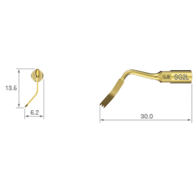 Насадка ультразвуковая для костной хирургии SG2L (наклон влево)