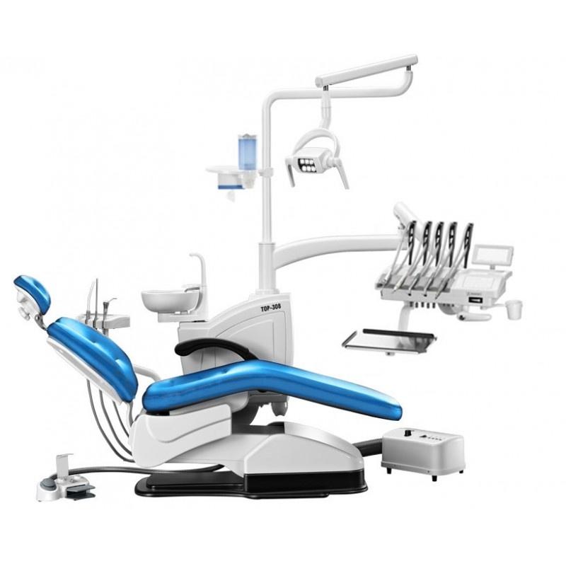 Установка стоматологическая TOP-308 (с компрессором, верхняя подача инструмента)