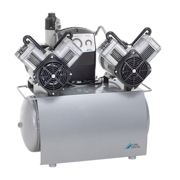 DUO Tandem - безмасляный компрессор с двумя агрегатами для 5-x стоматологических установок с осушителем, с электронным блоком контроля, 210 л/мин