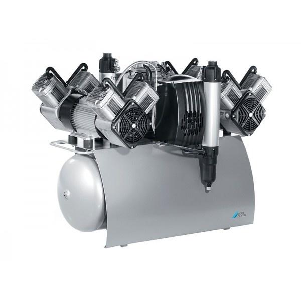 Quattro Tandem - безмасляный компрессор с одним агрегатом для 5-x стоматологических установок с осушителем, с электронным блоком контроля, 210 л/мин