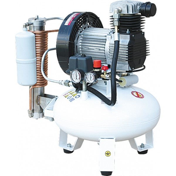 Remeza СБ4-24.OLD15СМ - безмасляный компрессор для 2-x стоматологических установок, с осушителем мембранного типа, с ресивером 24 л, 135 л/мин