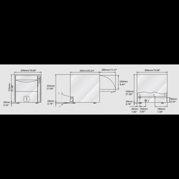 DS 50 D - машина для предстерилизационной обработки, мойки и дезинфекции c умягчителем воды (без сушки)