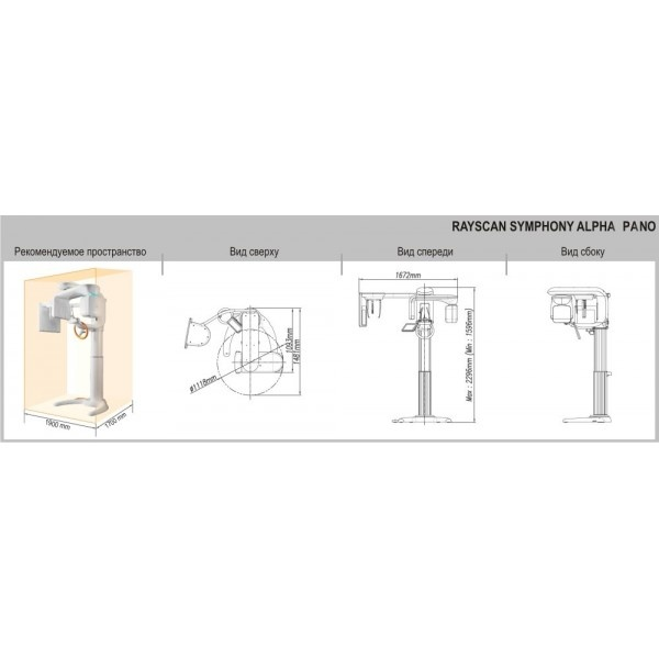 RAYSCAN Symphony a M3DL – томограф 3 в 1: ортопантомограф и цефалостат (OneShot) 33х33 см, компьютерный томограф 3D 9х9 см