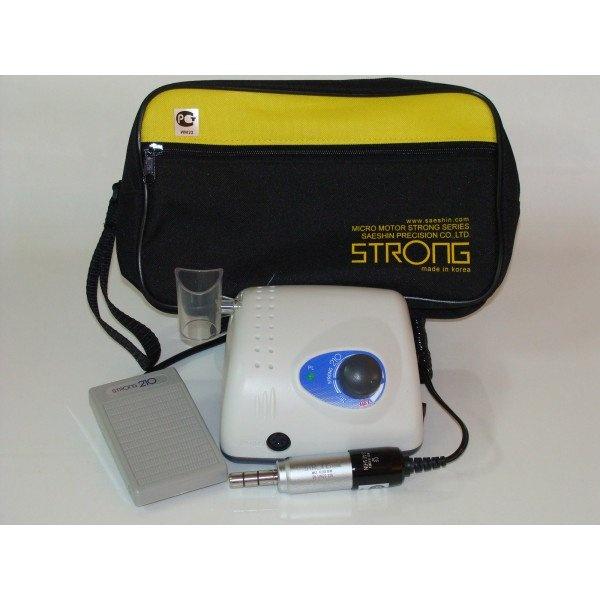 STRONG 210 - щеточный микромотор с наконечником 108NE (терапевтический), педаль включения–выключения, 40000 об/мин