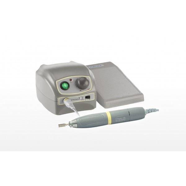 STRONG 207S - щеточный микромотор с наконечником S106, педаль с регулировкой скорости наконечника, 45000 об/мин