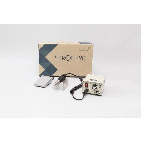 STRONG 90 - щеточный микромотор с наконечником 105L, педаль включения–выключения, 35000 об/мин