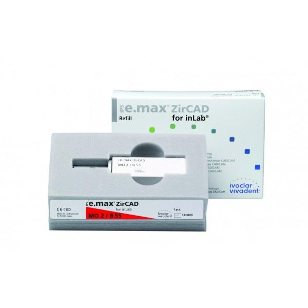 Блоки IPS e.max ZirCAD для inLab MO B55