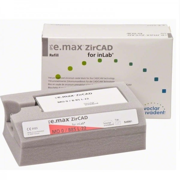 Блоки IPS e.max ZirCAD для inLab MO B85 L-22