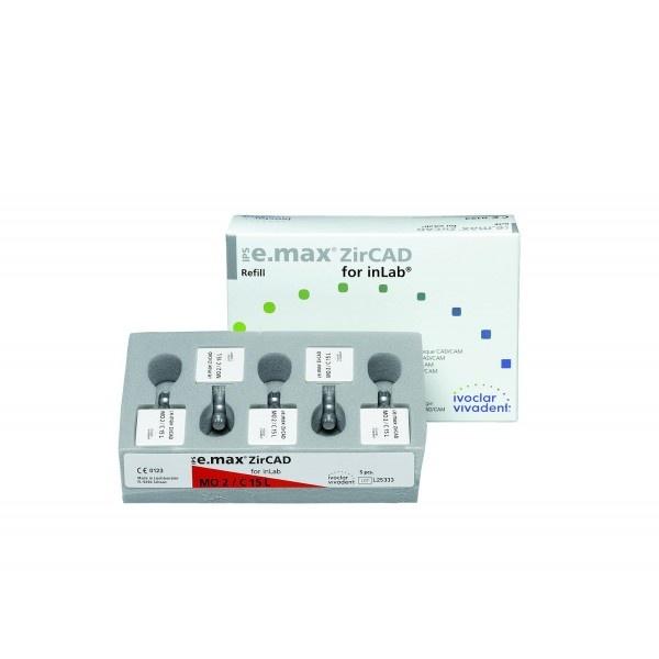 Блоки IPS e.max ZirCAD для inLab MO C15