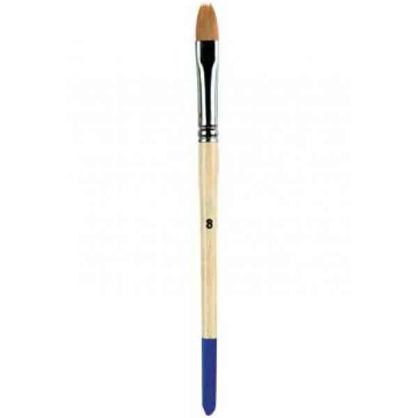 Кисточка для керамики № 8, деревянная ручка, синтетика