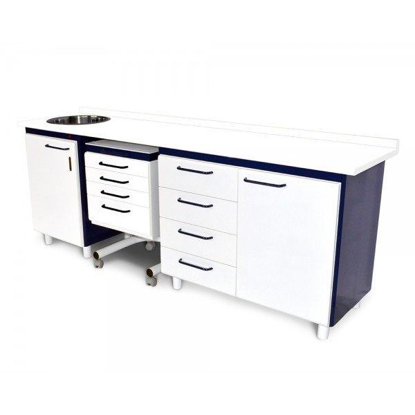 Комплект стоматологической мебели, серия Бизнес, цвет фронта RAL5024