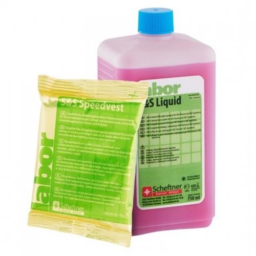 Масса паковочная шоковая с содержанием фосфата S&S Speedvest (20 пакетов по 160 г, 750 мл жидкости)